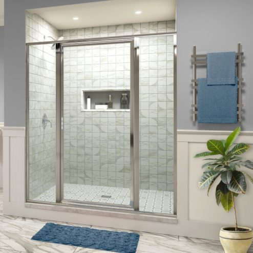 Deluxe Framed 3/16-inch Glass Panel Swing Door Panel Shower Door